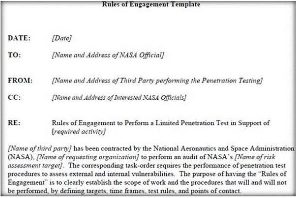 Q21297 what is the last step in preparing a rules of rules of engagement roe document provides certain rights and restriction to the test team for performing the test and helps testers to overcome legal pronofoot35fo Images