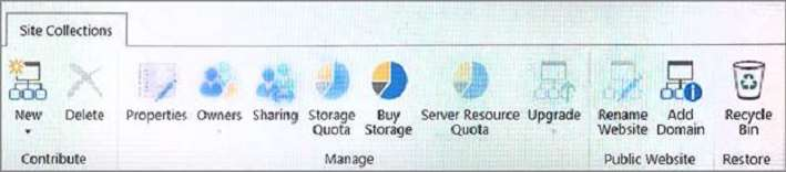 Q 105665: You need to configure storage management for