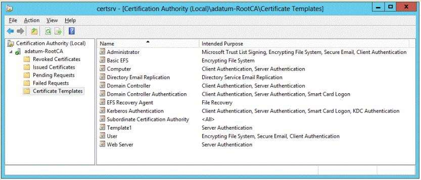 Q102752 which three actions should you perform in seq on server2 an administrator successfully installs a certificate based on template1 the administrator reports that template1 is not listed in yelopaper Gallery