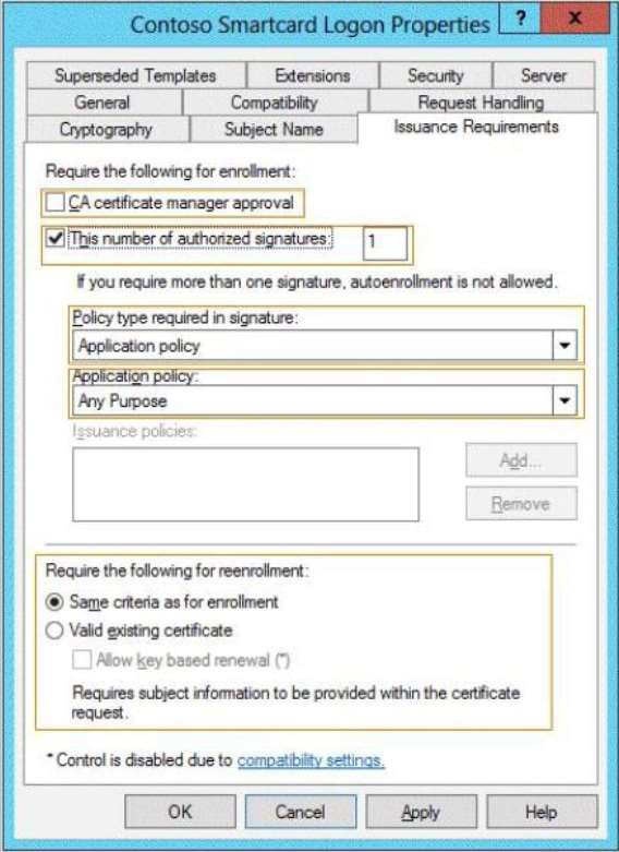 Q102608 which setting should you modify briefing m you need to configure the contoso smartcard logon certificate template to support the use of the enrollment agent which setting should you modify yadclub Images