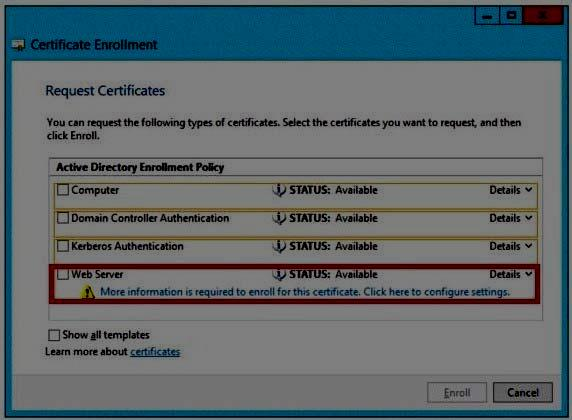 Q 87803: Which certificate template should you identify