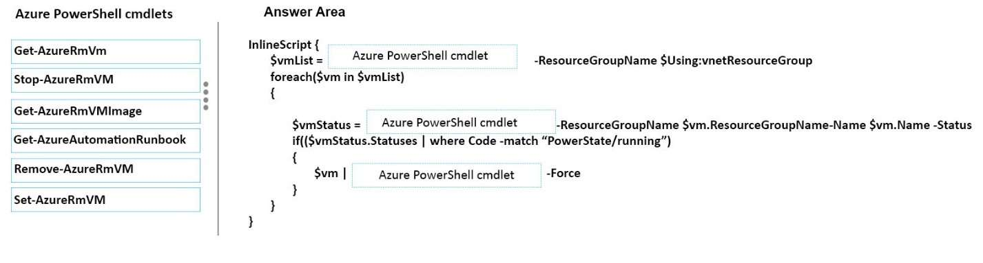 Q 97413: How should you complete the relevant Azure Pow