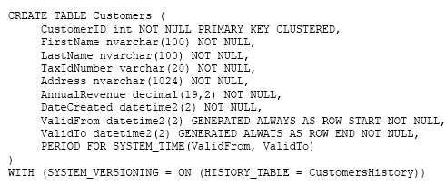 Q 100174: Which Transact-SQL statement should you run?